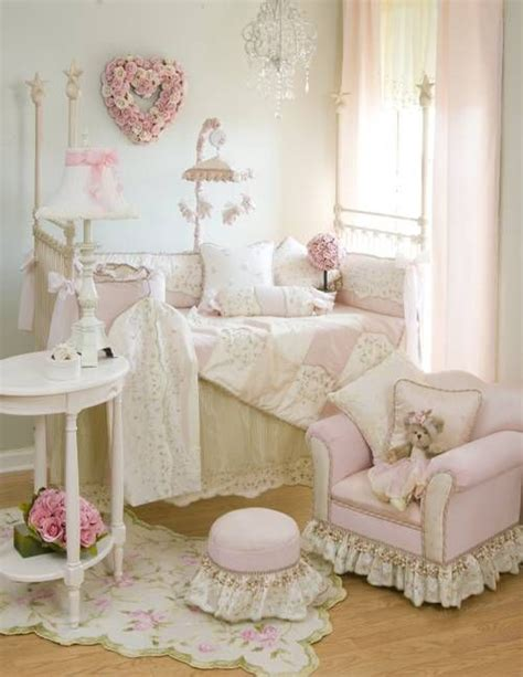 baby nursery decor shabby chic baby nursery with pink decor