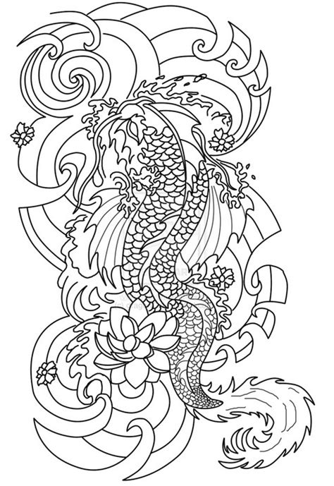 tattoo pictures to color adult coloring page tattoos japanese tattoo 8