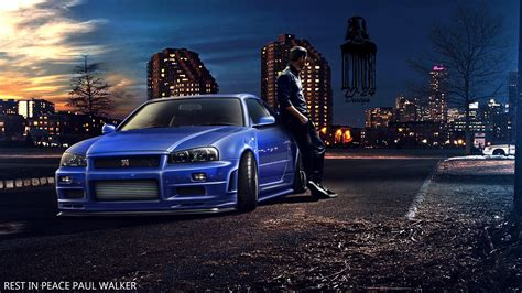 blue nissan skyline fast and furious blue race car paul walker fast and furious furious 7