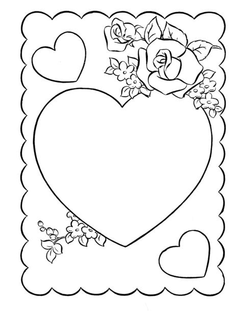 valentines day cards coloring valentines cartoon