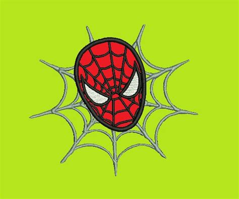 spiderman embroidery pattern spiderman applique embroidery design 244 instant download