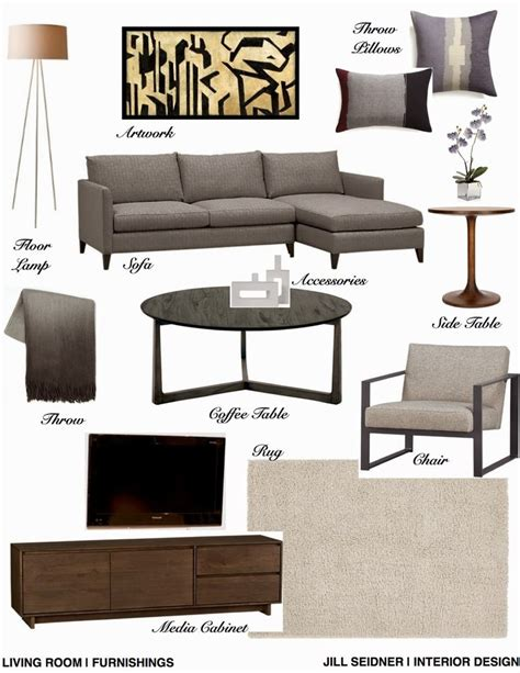 living room furnishings concept board jill seidner jill seidner interior design concept boards my