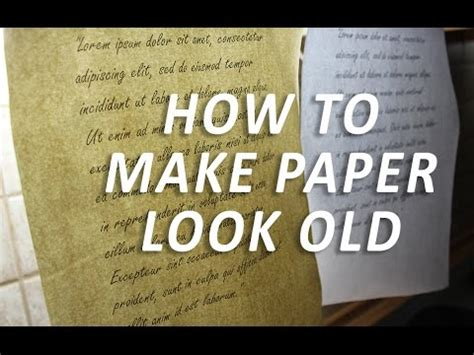 How Make Paper Look - make paper look easy d i y