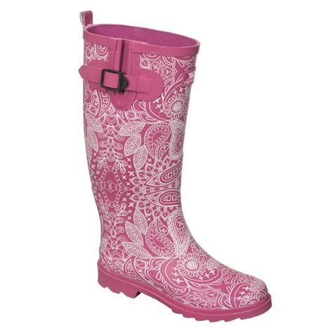 pink patterned wellies pink ladies wellies lace pattern buy online