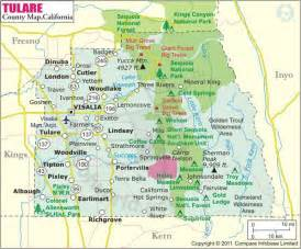 tulare county map feels like home in ca