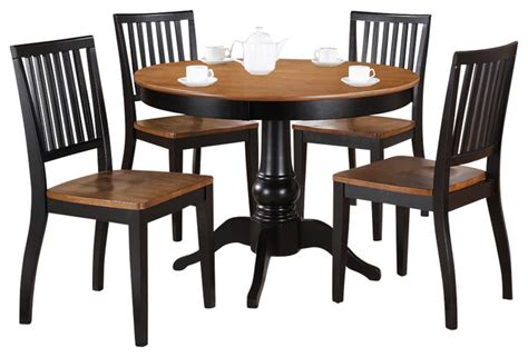 black and silver dining room set steve silver candice 5 dining room set in oak