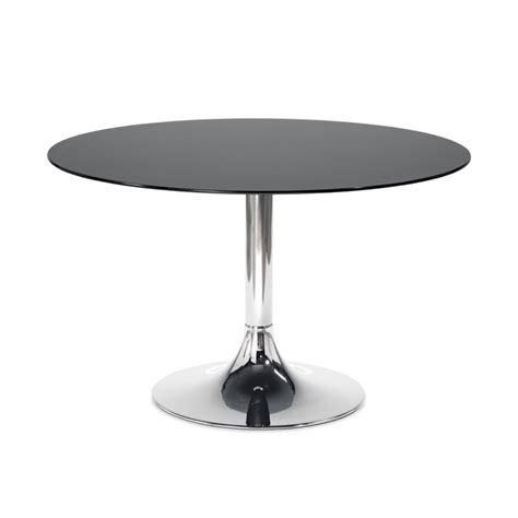 Glass Circle Dining Table Corona Dining Table Chrome Black Glass Dining Tables