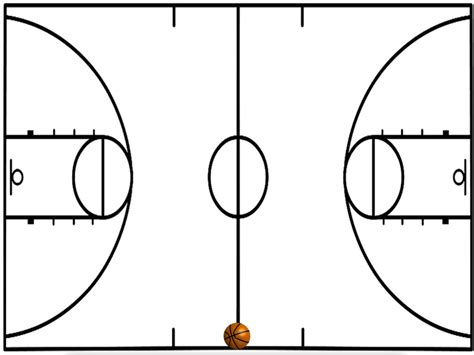 Basketball Court Diagram Printable Diagram Drawing Basketball Plays Template