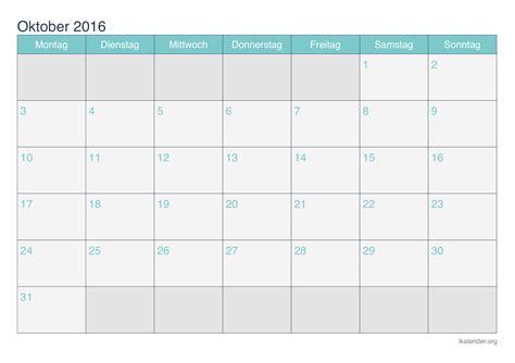 Blanko Kalender 2016 Kalender Oktober 2016 Zum Ausdrucken Ikalender Org