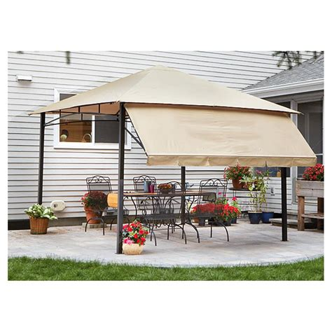 gazebo awning castlecreek 10 x10 gazebo with awning steel frame