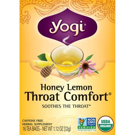 yogi throat comfort tea yogi tea honey lemon throat comfort 16 bag s swanson 174