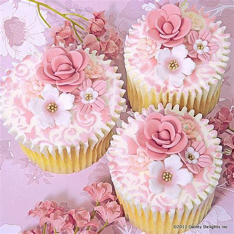 Amoree Dusty Pink 35 succulent pink floral cupcakes cupcakes gallery