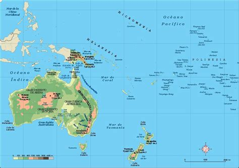 physical map of oceania oceania vector city maps eps illustrator freehand