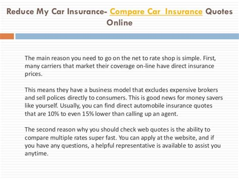Compare Car Insurance 2 by Reduce My Car Insurance Car Insurance Compare Car