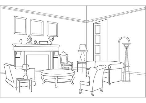 living room coloring pics for gt dining room coloring