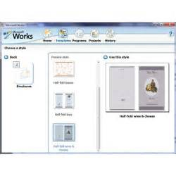 microsoft templates brochure how to use the free brochure templates for microsoft works