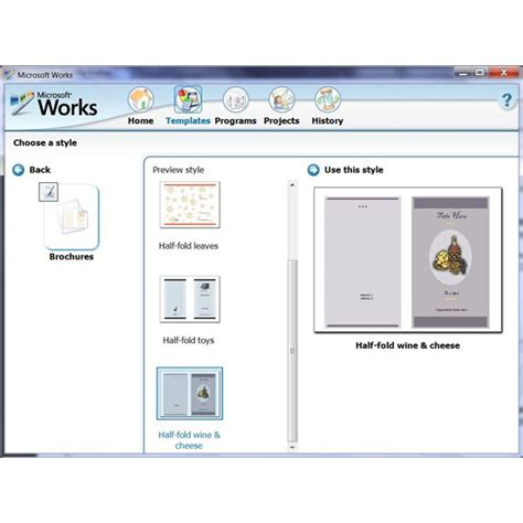 template for a brochure in microsoft word how to use the free brochure templates for microsoft works