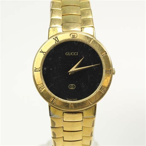 mens 18kt gold plated gucci 3300m property room