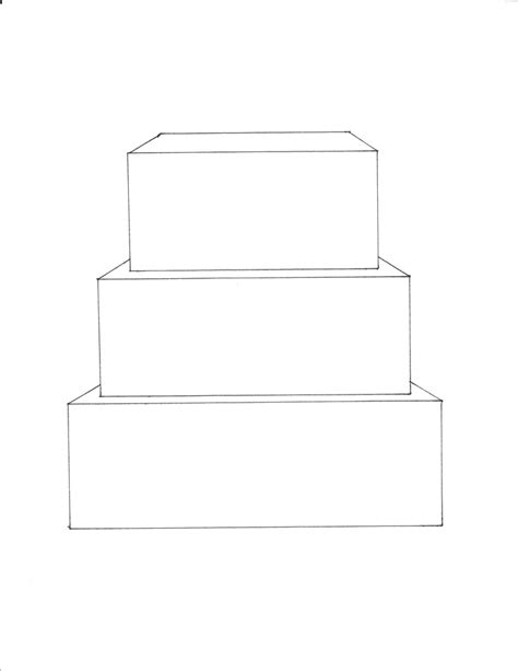 cake templates 3 tier square cake template free downloadable cake