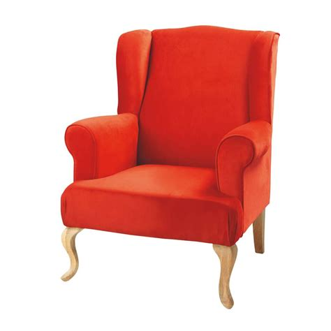 orange armchair maisons du monde