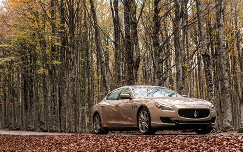 Car Wallpapers Desktops Forest by Maserati Ghibli Car Forest Fall Leaves Wallpaper