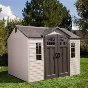lifetime 174 10 ft x 8 ft outdoor storage shed costco