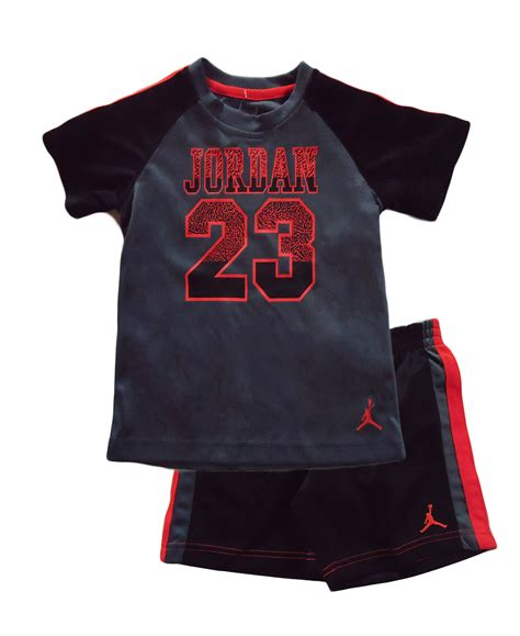 New jordan boys cute 2 pieces black grey and orange pants set toddler jordan outfits baby