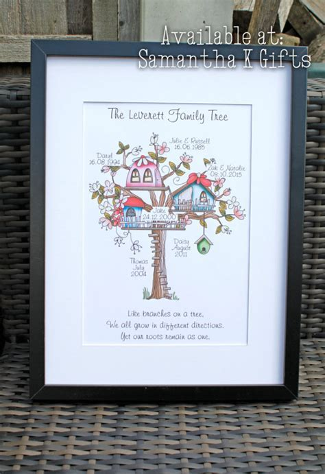 Colourful cartoon style Large Personalised framed family