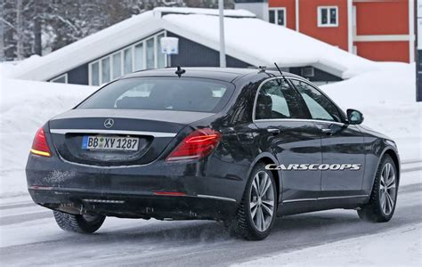 lifted mercedes sedan facelifted mercedes s class test mule on