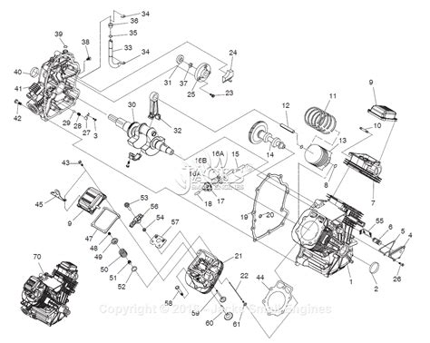 generac   parts diagram  long block specific