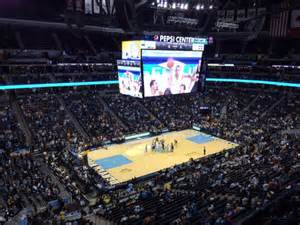 pepsi center sections pepsi center section 349 row 3 seat 20 denver nuggets vs