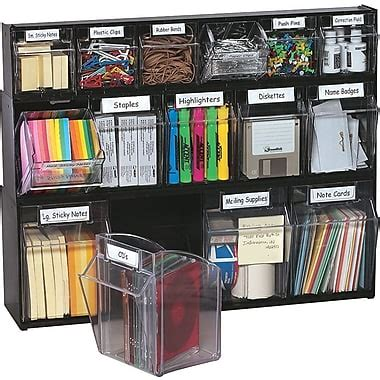 home office desk supplies storage ideas deflecto 174 tilt bin multipurpose storage and organization
