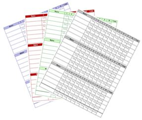 bowls score cards template hockey scoresheet excel irisalmbest