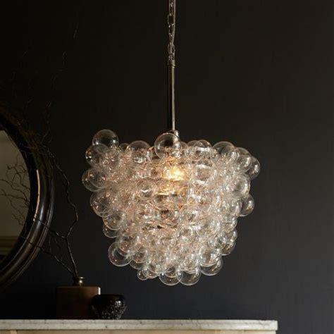 glass bubbles chandelier droplet clear glass pendant