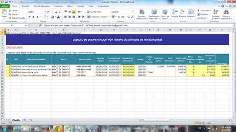 calculo de cts semestral en excel archivo excel aplicaciones en excel