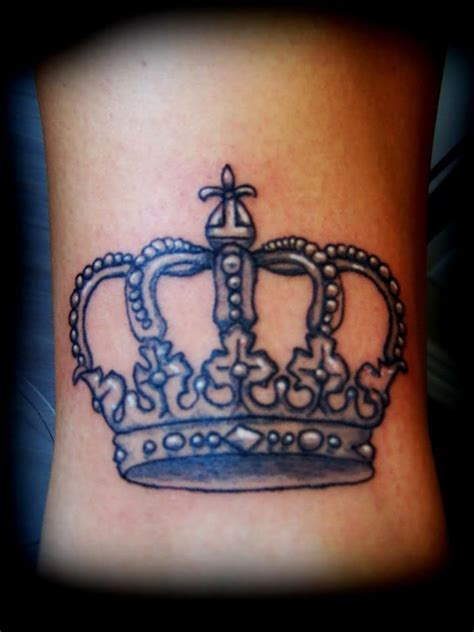 crown with cross tattoo small cross on crown design