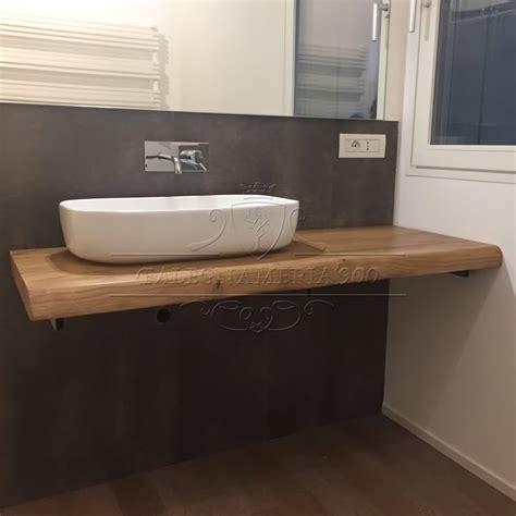 mensola legno massello mobile bagno in legno massello