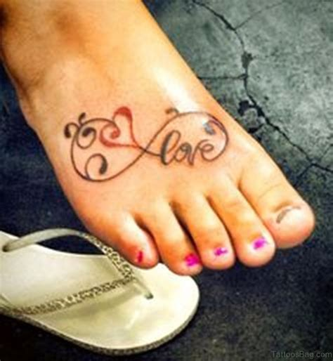love tattoo on foot 64 cute infinity tattoos for foot