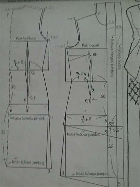 cara membuat pola baju terusan pola kebaya kutu baru pola busana pinterest kebaya