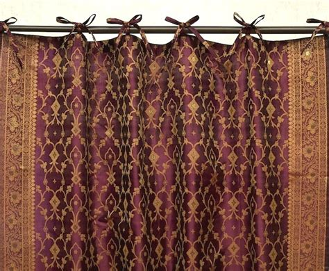 indian curtains drapes kela sari curtains