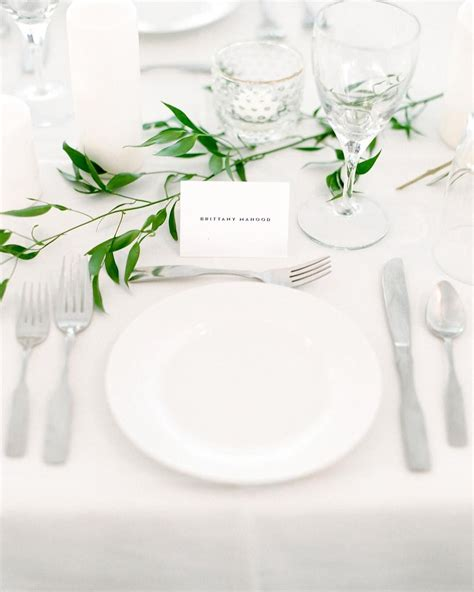 simple table settings simple table setting greenery wedding simple