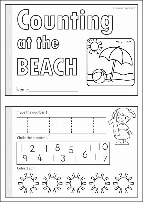 kindergarten summer review math literacy worksheets
