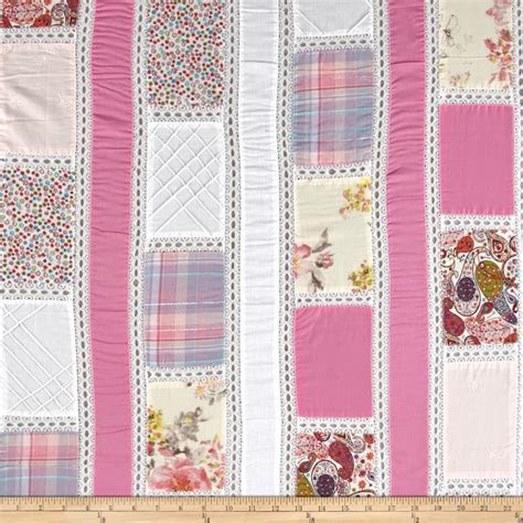 Cheap Patchwork Fabric - vintage cuts patchwork lawn pink discount designer
