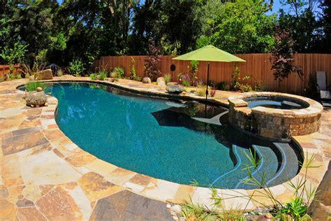 backyard pool small backyard pools pool traditional with bluestone patio