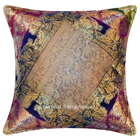 Bohemian Throw Pillows by Decorative And Bohemian Multi India Sari Made Throw