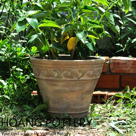 Planters Net by Antique Style Clay Flower Pots Hptc094 Hoang Pottery Your Best Source For