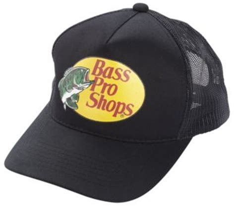 Who Sells Bass Pro Shop Gift Cards - new black cap by bass pro shops adult unisex mesh style trucker hat b ebay