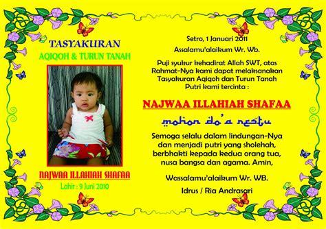 desain kartu ucapan kelahiran anak contoh kartu ucapan tasyakuran kelahiran anak dan aqiqah