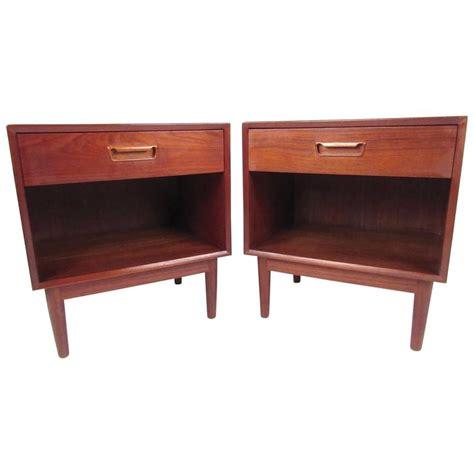 pair of scandinavian modern teak nightstands for sale at