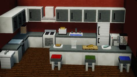 Minecraft Kitchen Furniture Finally Finished The Kitchen Furniture For My Mod What Do